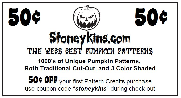 stoneykins coupon pumpkin carving patterns